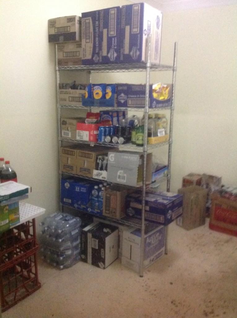 New shelving new storeroom 1-2018